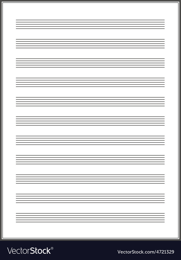 A note paper for musical notes vector | Price: 1 Credit (USD $1)