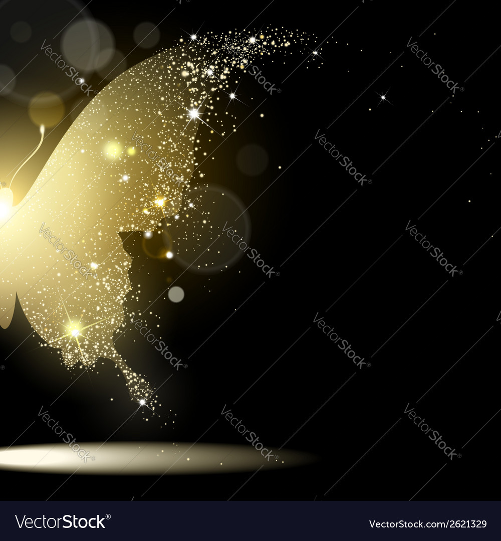 Background gold butterfly vector | Price: 1 Credit (USD $1)