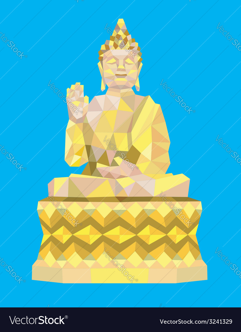 Buddha low polygon style vector | Price: 1 Credit (USD $1)