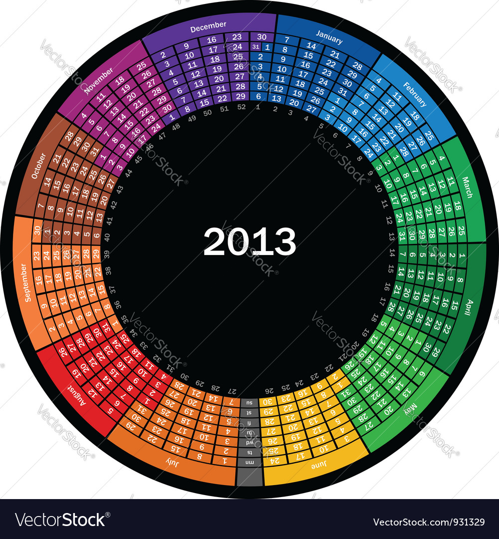 Calendar 2013 vector | Price: 3 Credit (USD $3)