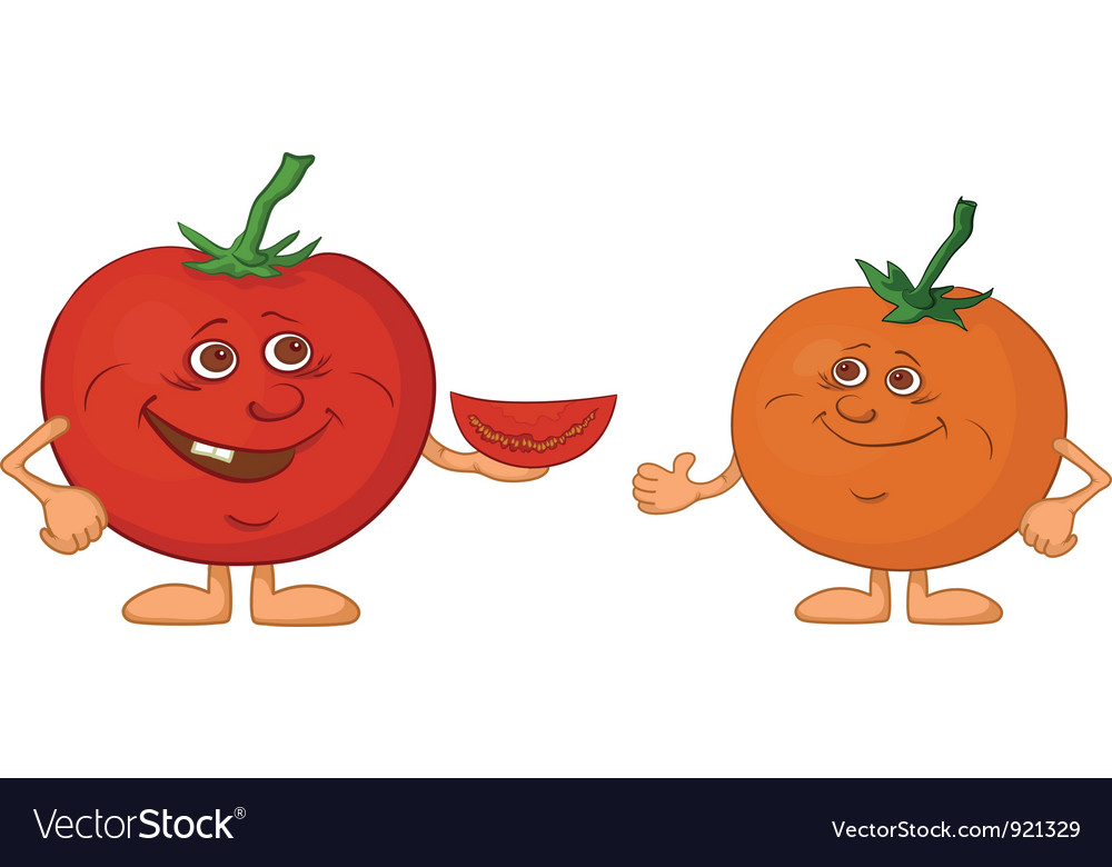 Character tomatoes friends vector | Price: 1 Credit (USD $1)
