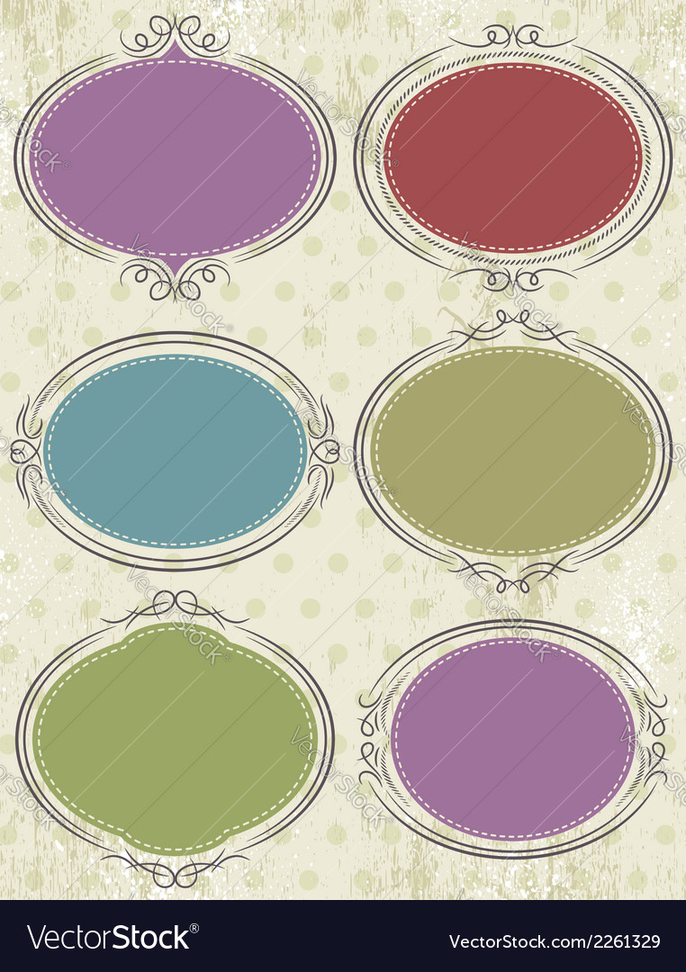 Floral decorative frames vector | Price: 1 Credit (USD $1)
