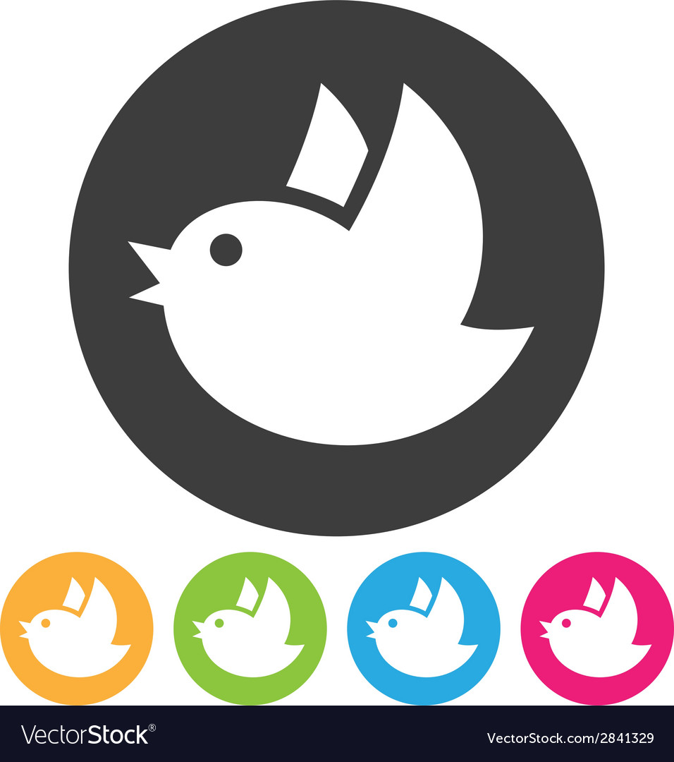 Flying bird icon vector | Price: 1 Credit (USD $1)