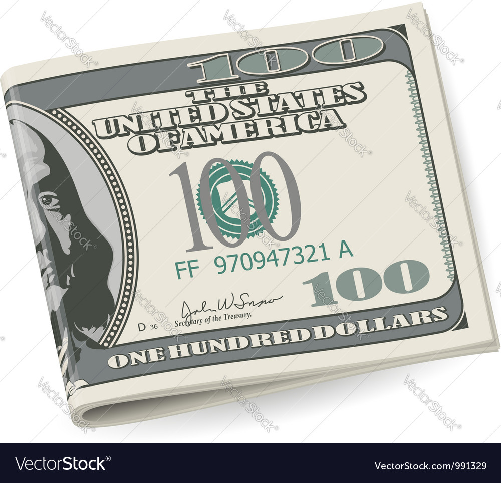 Folding dollars vector | Price: 1 Credit (USD $1)