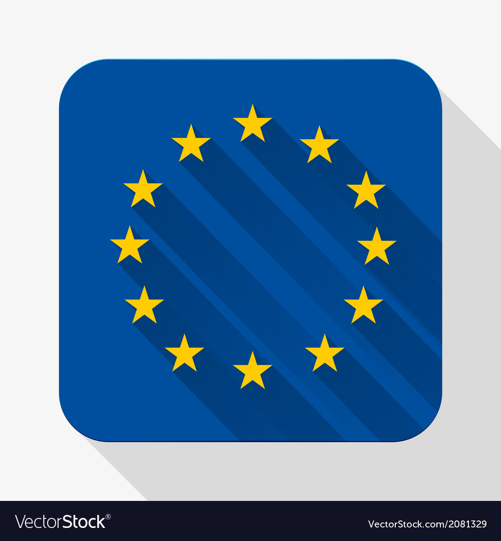 Simple flat icon europe union flag vector | Price: 1 Credit (USD $1)