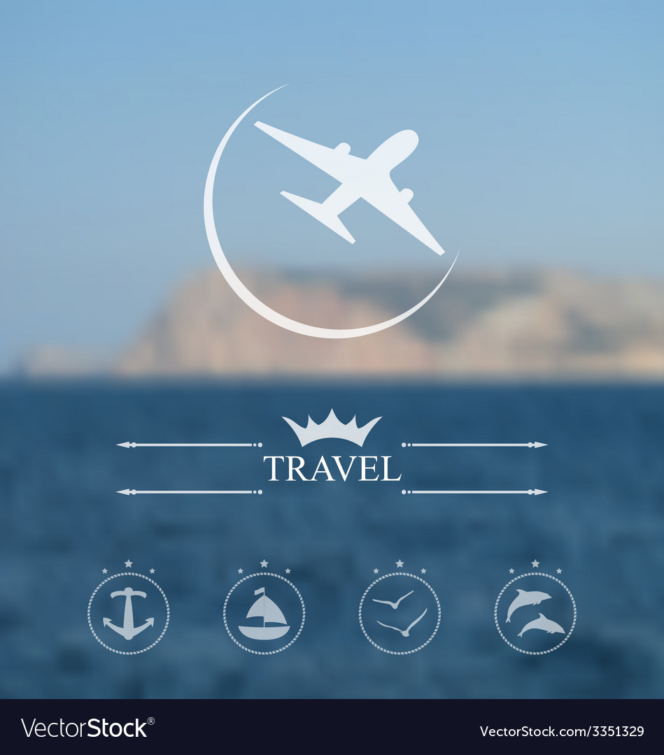 Template of poster for time to travel blurred vector | Price: 1 Credit (USD $1)