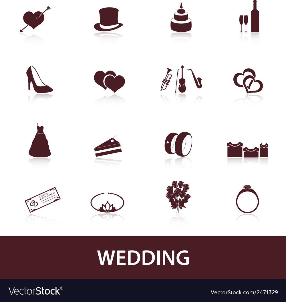 Wedding icons eps10 vector | Price: 1 Credit (USD $1)