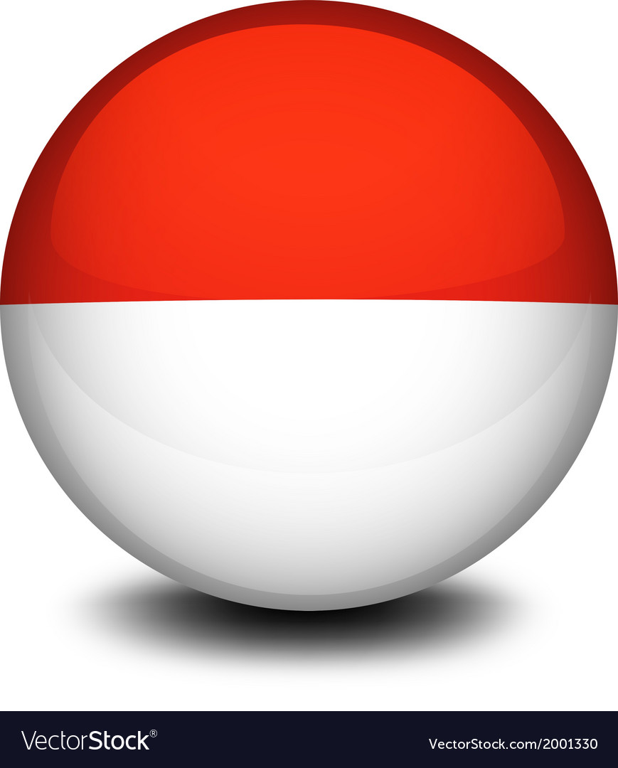 A ball with the flag of indonesia and monaco vector | Price: 1 Credit (USD $1)