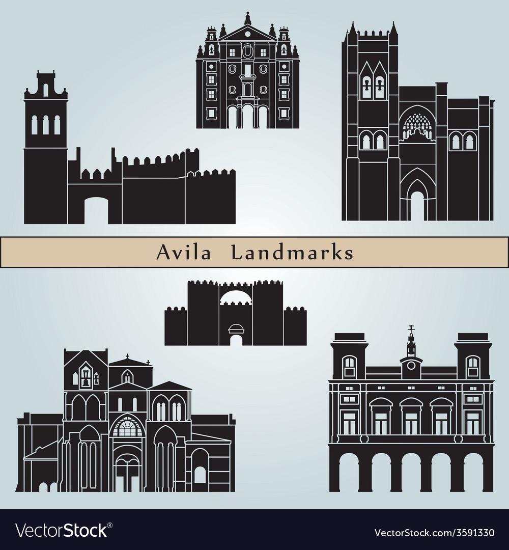 Avila landmarks and monuments vector | Price: 1 Credit (USD $1)