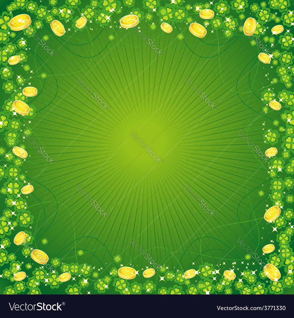 Clovers st patricks day background vector | Price: 1 Credit (USD $1)
