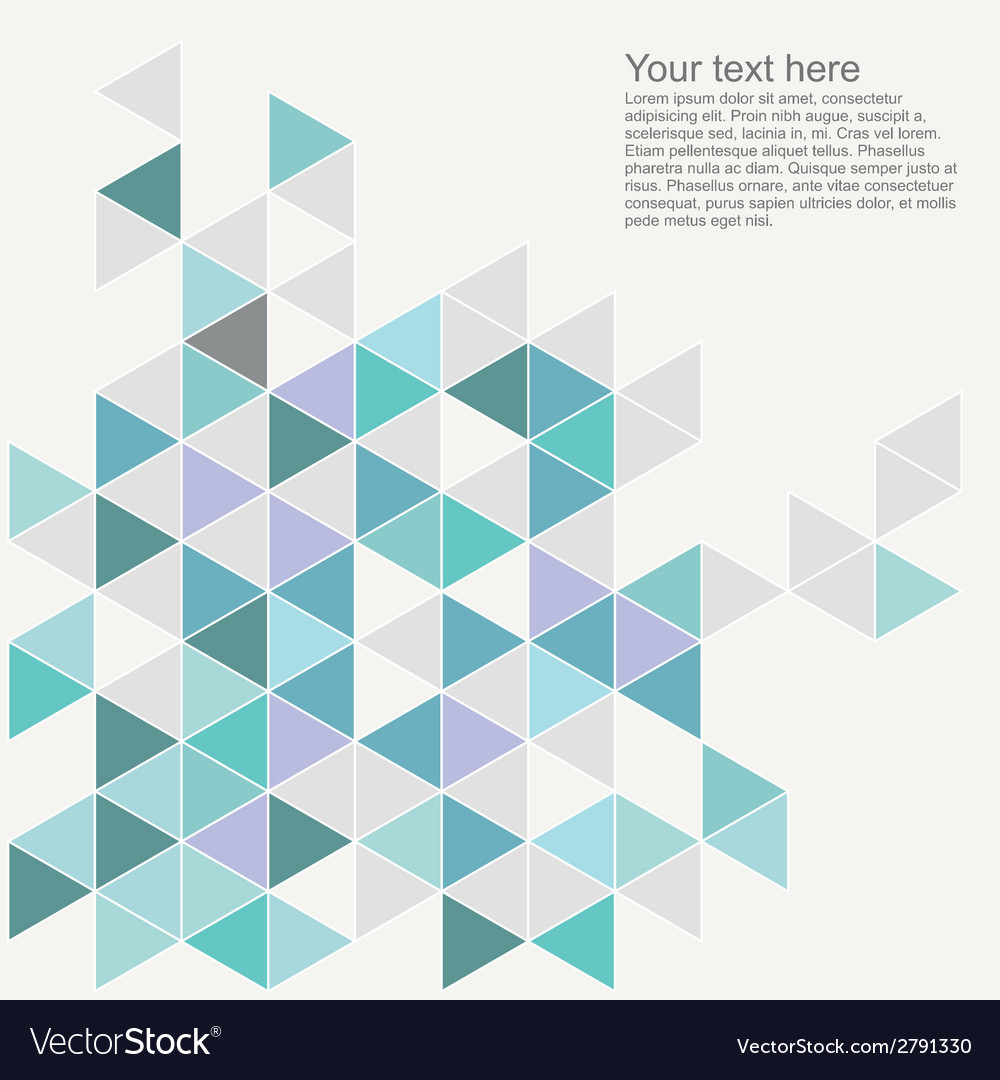 Document template with triangle print vector | Price: 1 Credit (USD $1)