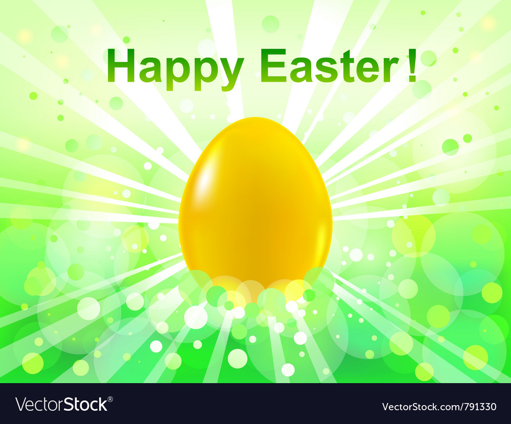 Easter green bokeh background vector | Price: 1 Credit (USD $1)