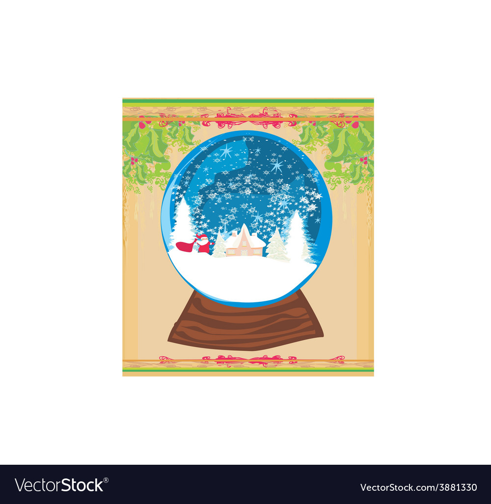 Santa claus in a glass ball vector | Price: 1 Credit (USD $1)