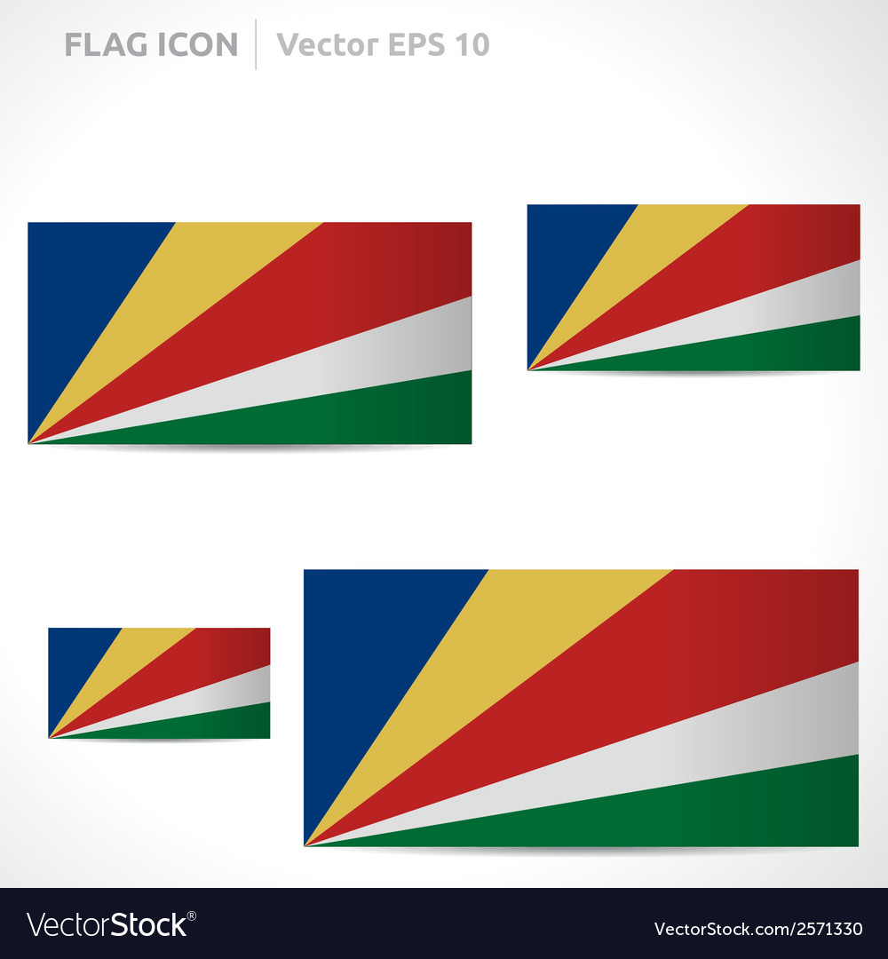 Seychelles flag template vector | Price: 1 Credit (USD $1)