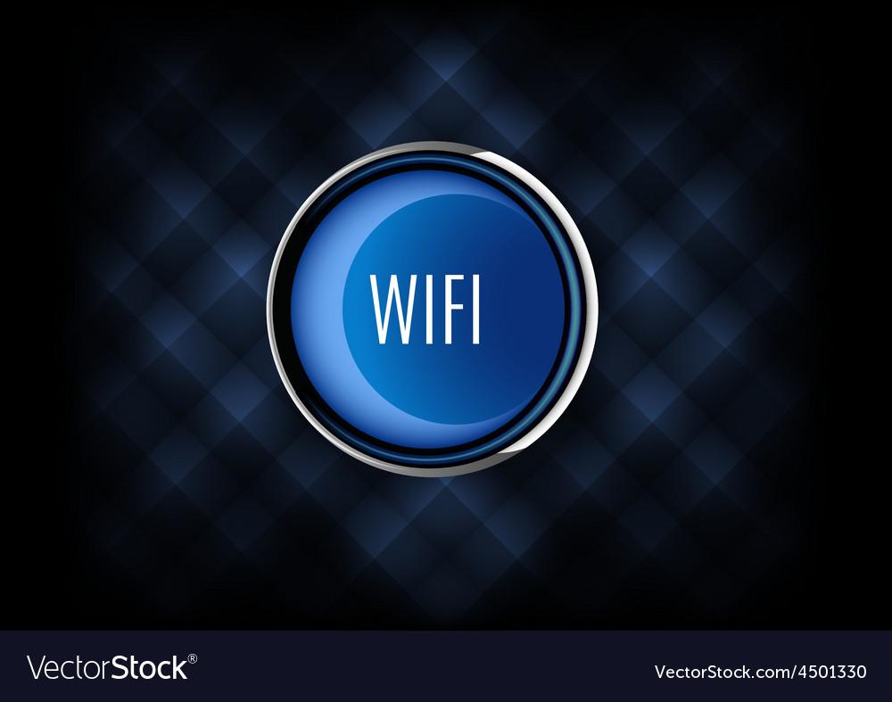 Wifi button vector | Price: 1 Credit (USD $1)