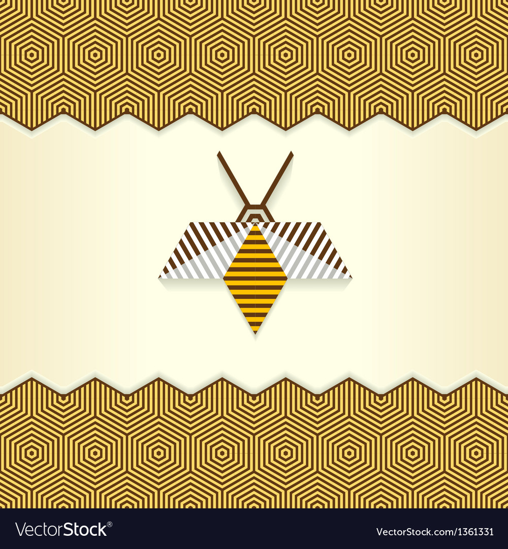 Abstract geometrical bee vector | Price: 1 Credit (USD $1)