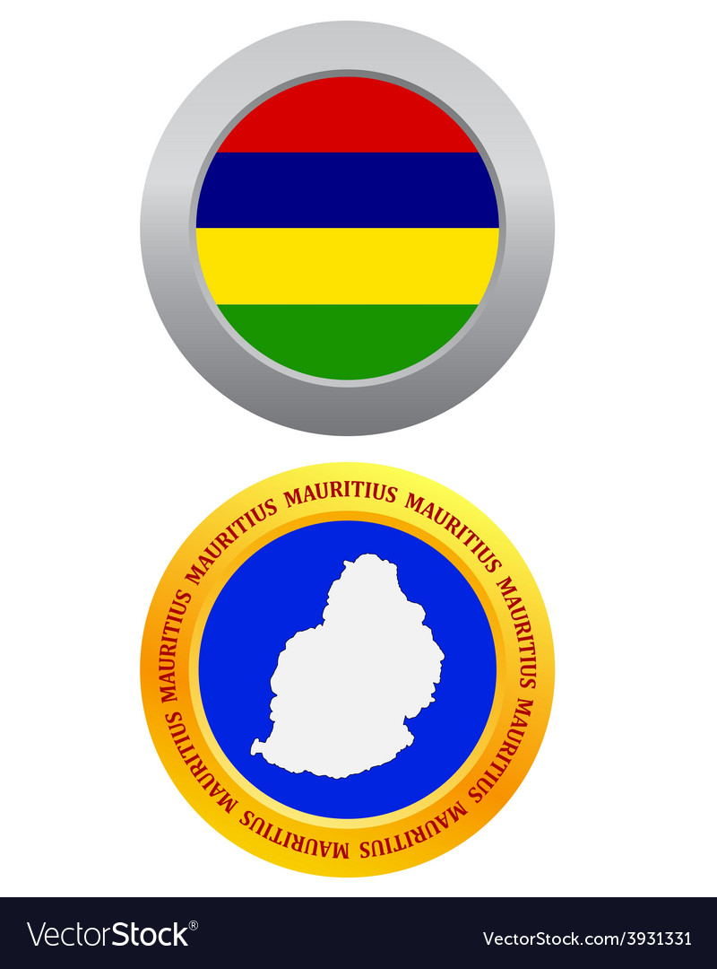Button as a symbol mauritius vector | Price: 1 Credit (USD $1)