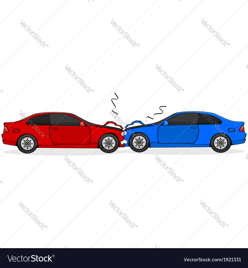 Car crash vector | Price: 1 Credit (USD $1)