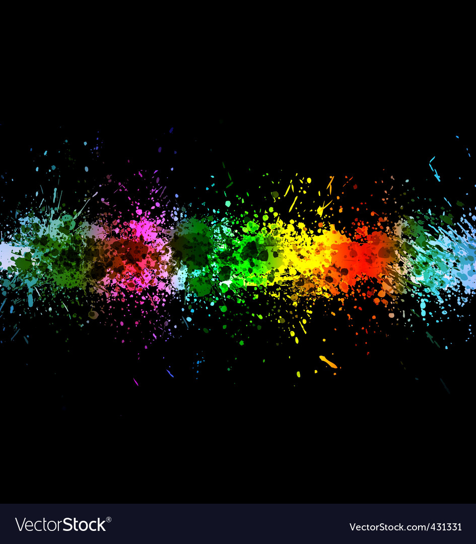 Color paint splashes vector   Price: 1 Credit (USD $1)