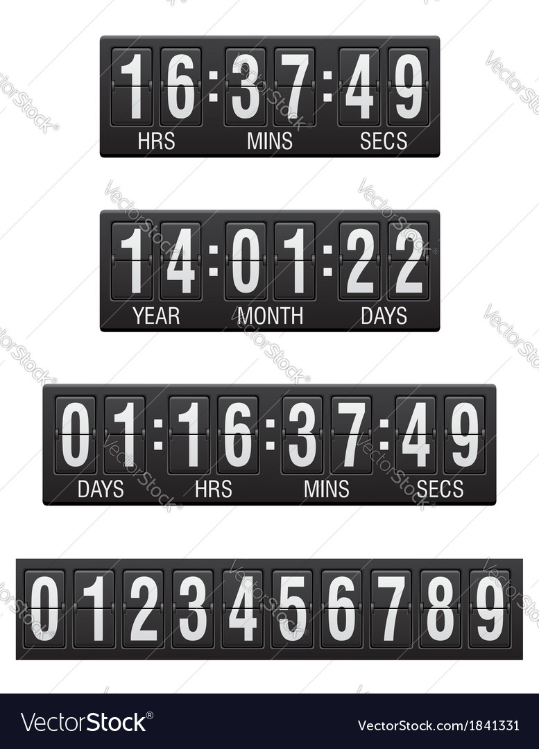 Countdown timer 04 vector | Price: 1 Credit (USD $1)