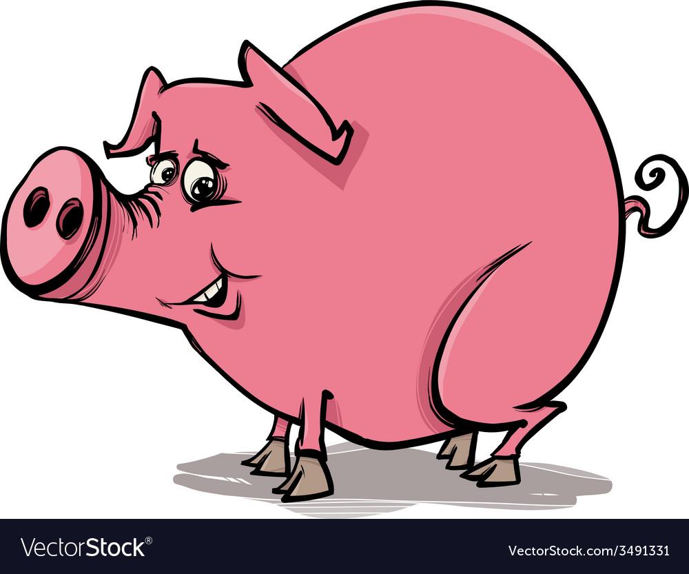 Farm pig cartoon vector | Price: 1 Credit (USD $1)