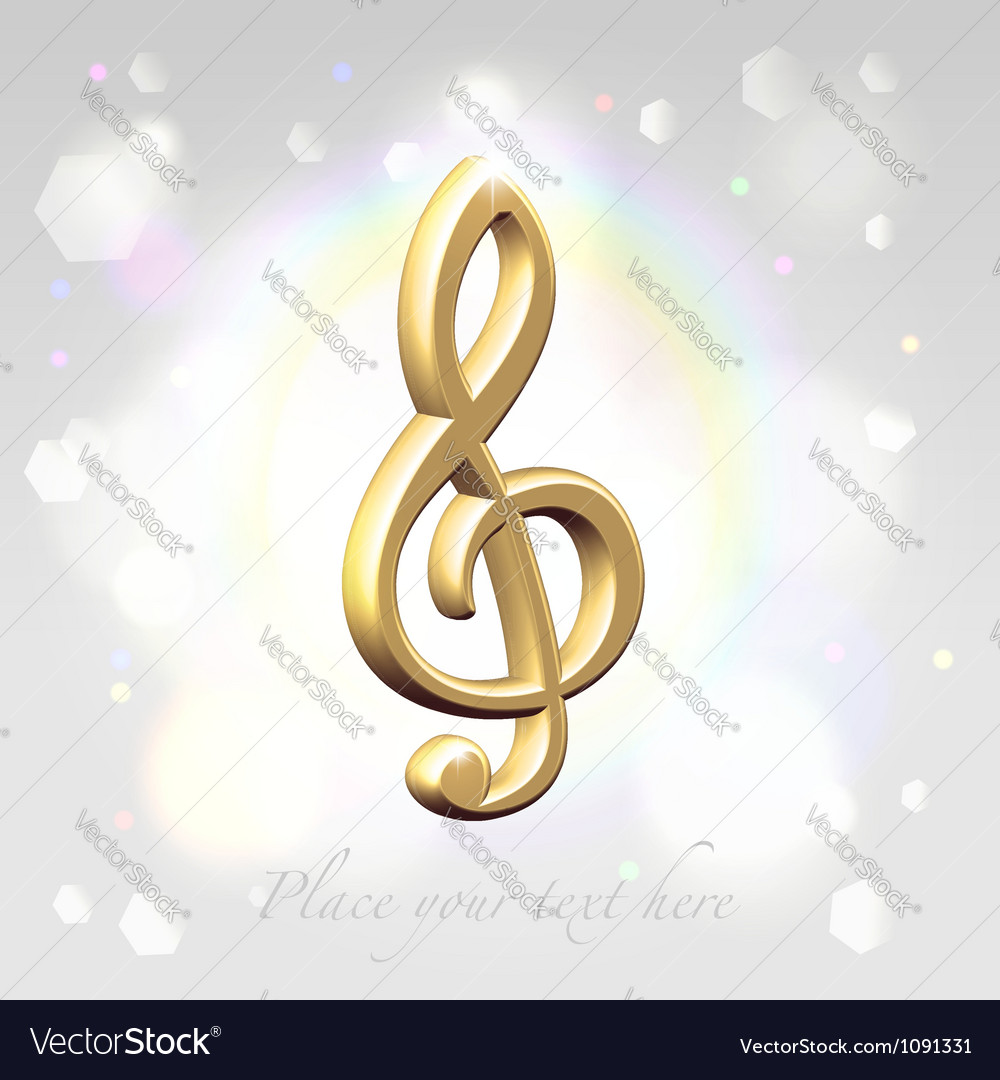 Festive treble clef awards vector | Price: 1 Credit (USD $1)