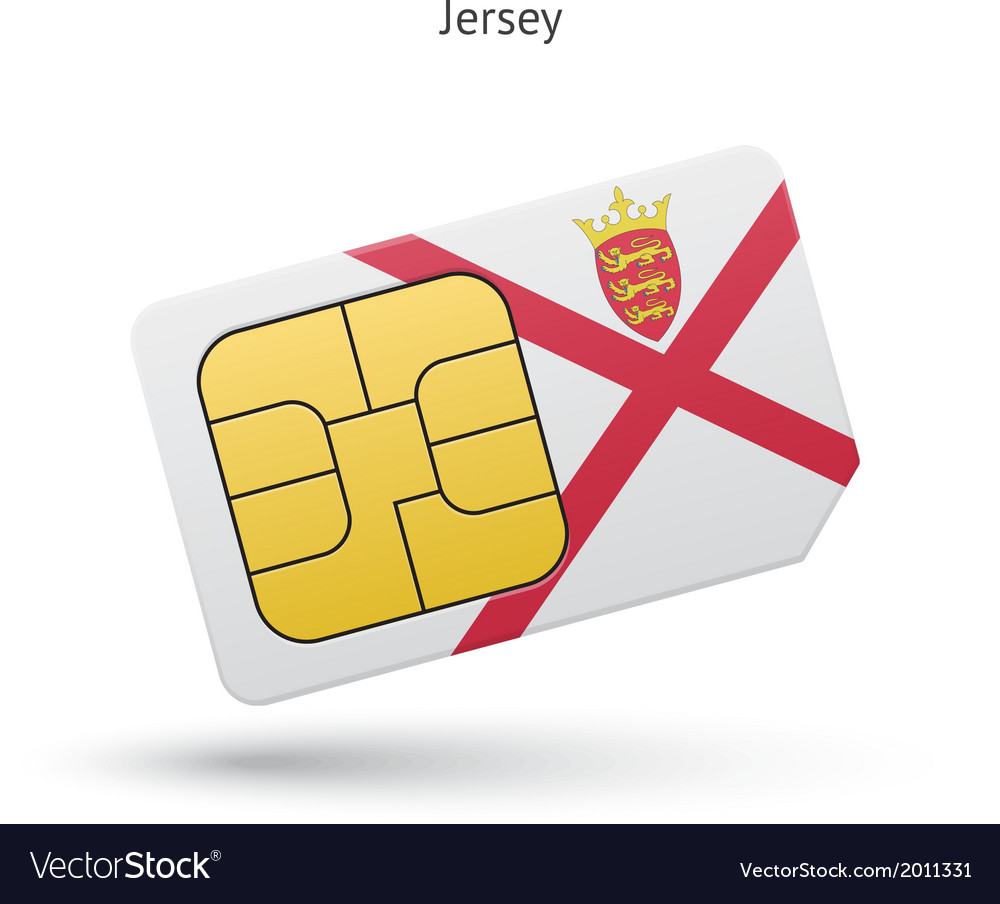 Jersey mobile phone sim card with flag vector | Price: 1 Credit (USD $1)