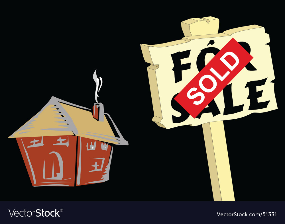 Sold sign vector | Price: 1 Credit (USD $1)