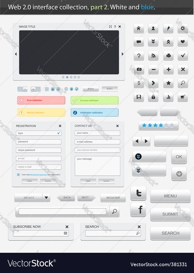 Web 20 interface part 2 vector | Price: 1 Credit (USD $1)