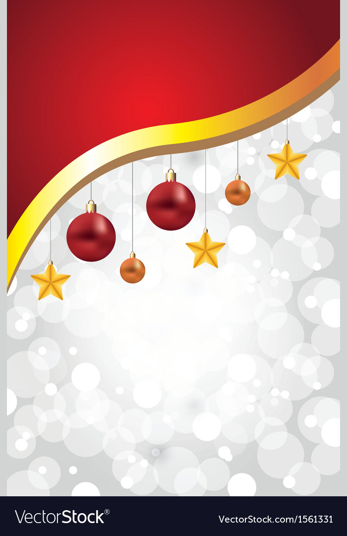 White christmas background decorations golden vector | Price: 1 Credit (USD $1)