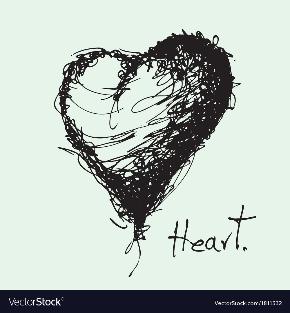 Drawing of heart vector | Price: 1 Credit (USD $1)