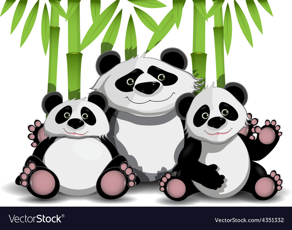 Family of pandas vector | Price: 1 Credit (USD $1)