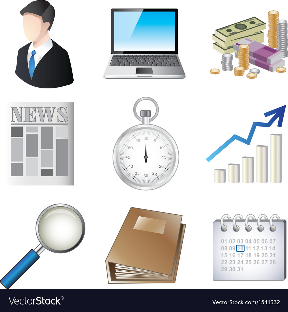 Icons business vector | Price: 3 Credit (USD $3)