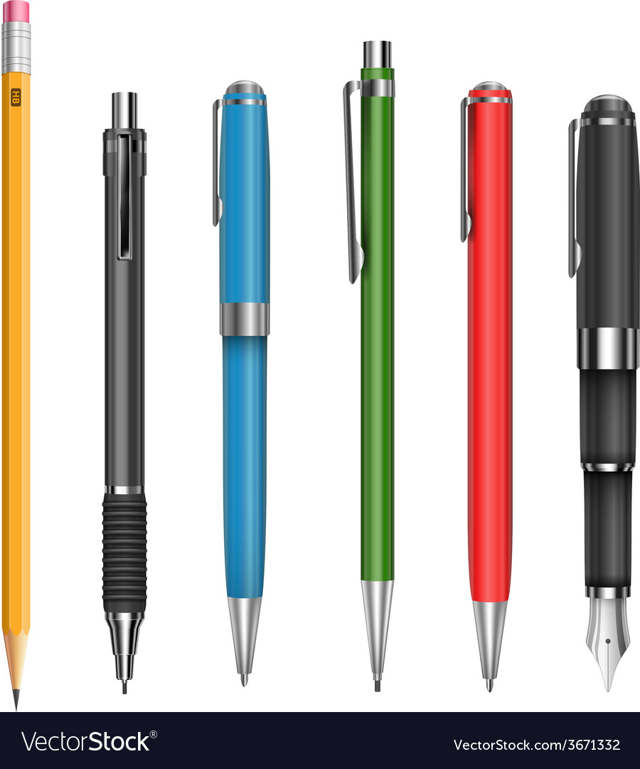 Pens and pencil vector | Price: 1 Credit (USD $1)