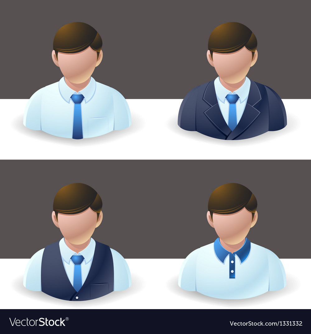 People icons businessman vector | Price: 3 Credit (USD $3)