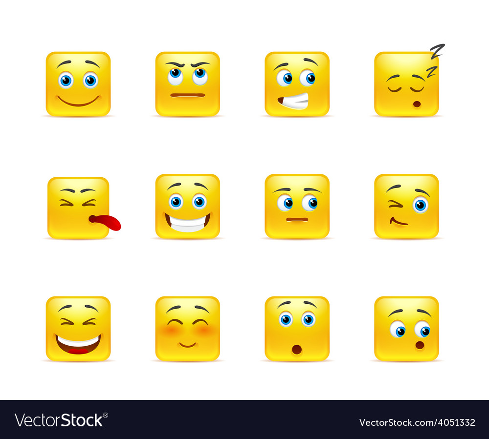 Smileys with emotions vector   Price: 1 Credit (USD $1)