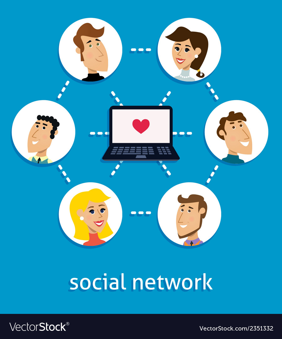 Social network concept vector | Price: 1 Credit (USD $1)