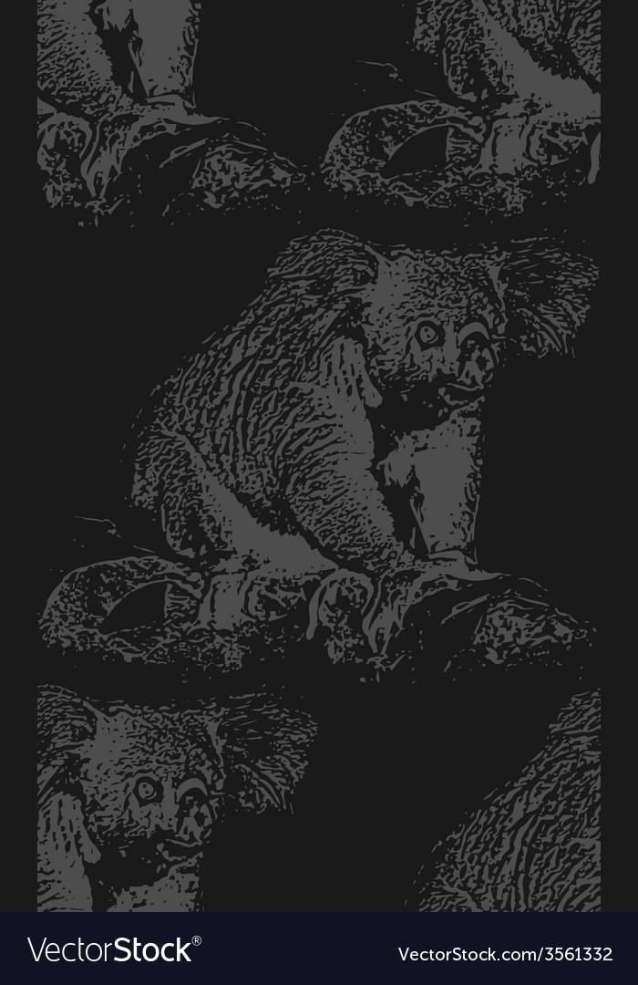 Vintage of a koala bear seamless animal pat vector | Price: 1 Credit (USD $1)