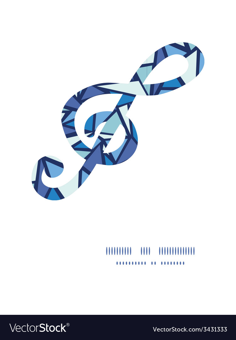 Abstract ice chrystals g clef musical silhouette vector | Price: 1 Credit (USD $1)