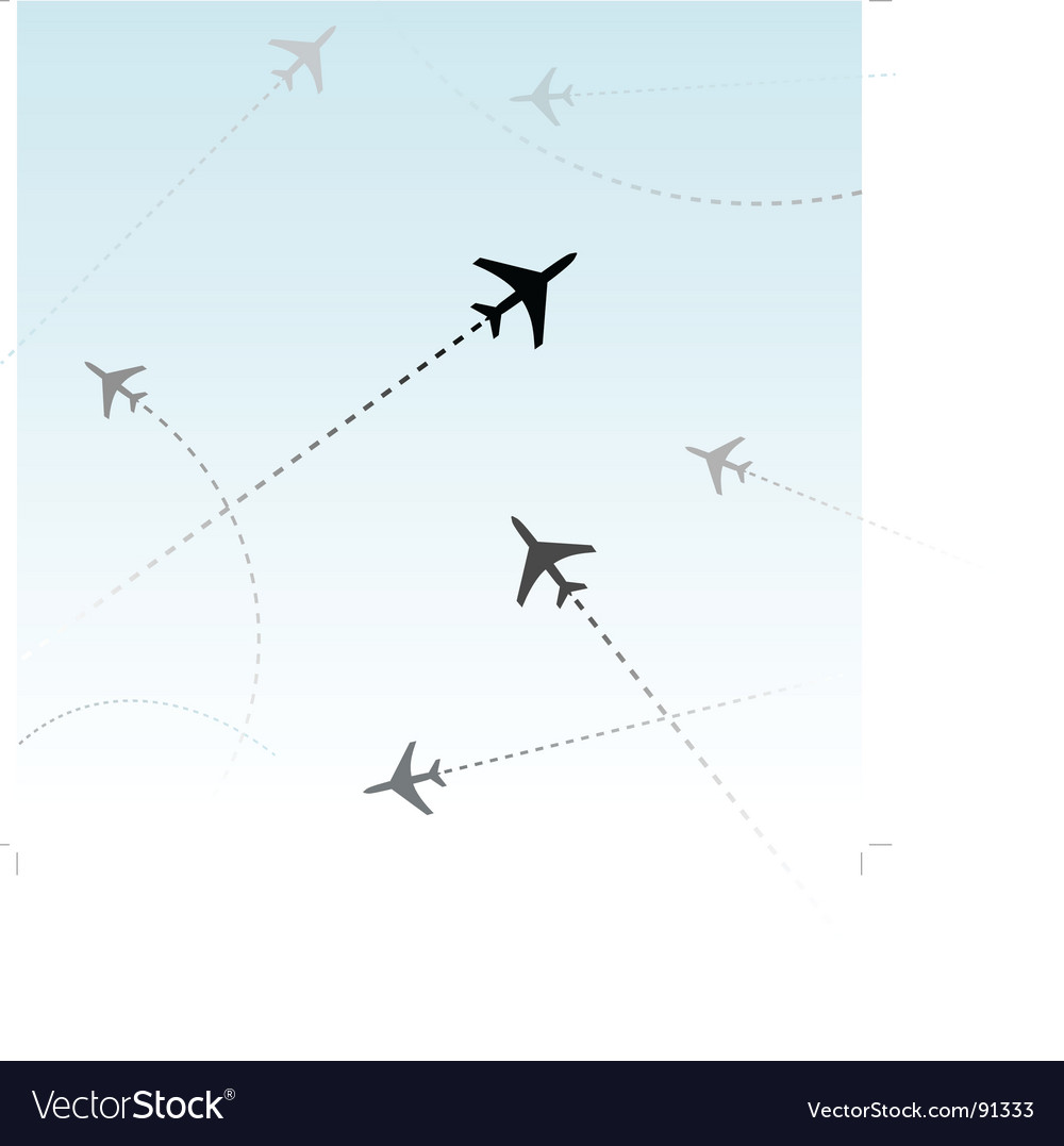 Commercial airline vector | Price: 1 Credit (USD $1)