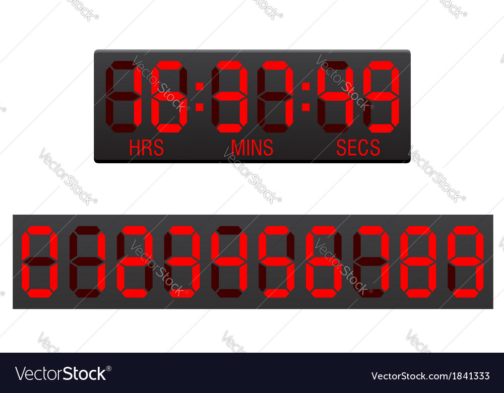 Digital countdown timer 01 vector | Price: 1 Credit (USD $1)
