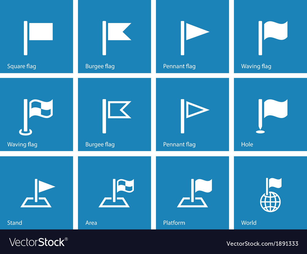 Flag icons on blue background vector   Price: 1 Credit (USD $1)