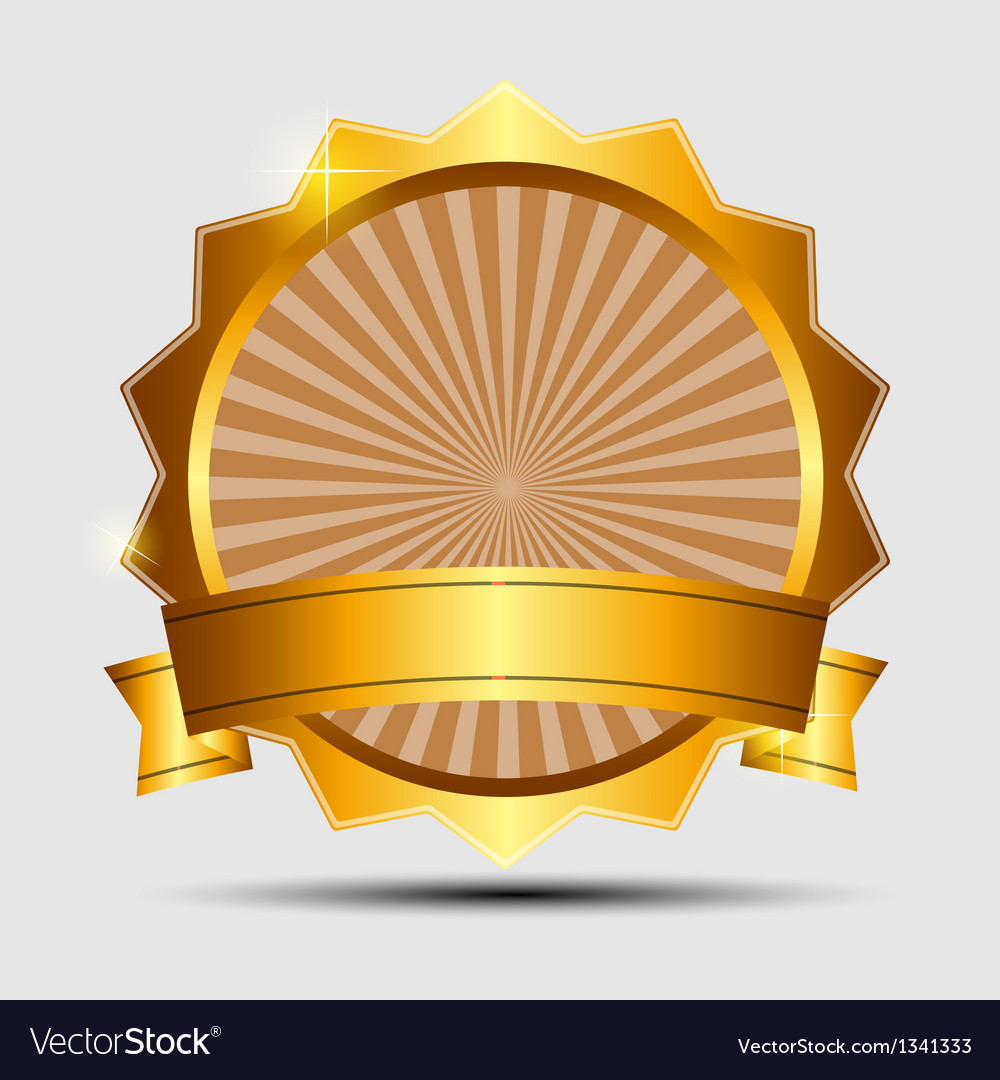 Gold sign label template vector | Price: 1 Credit (USD $1)