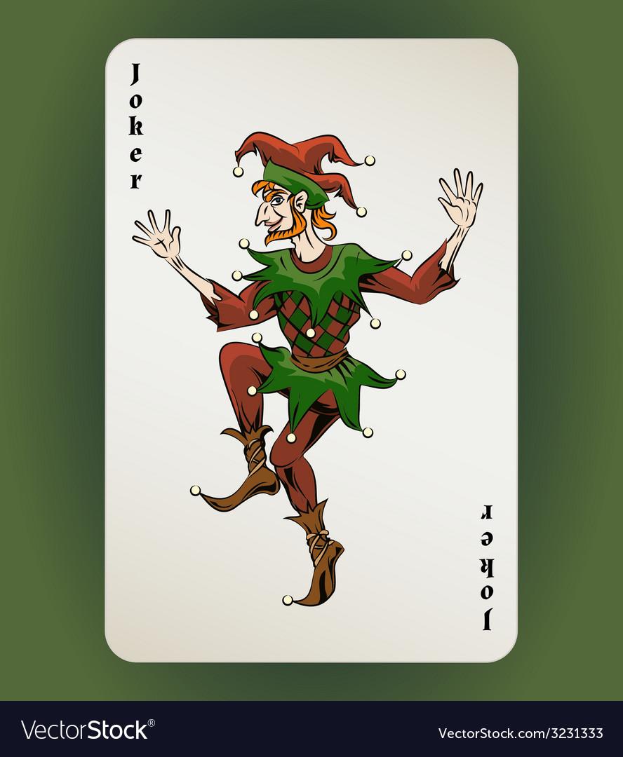 Joker card vector | Price: 1 Credit (USD $1)