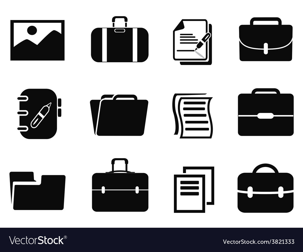 Portfolio icons set vector | Price: 1 Credit (USD $1)