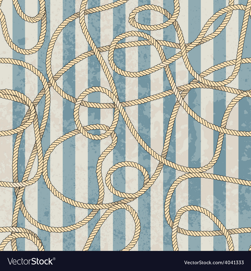 Ropes pattern in marine style vector | Price: 1 Credit (USD $1)