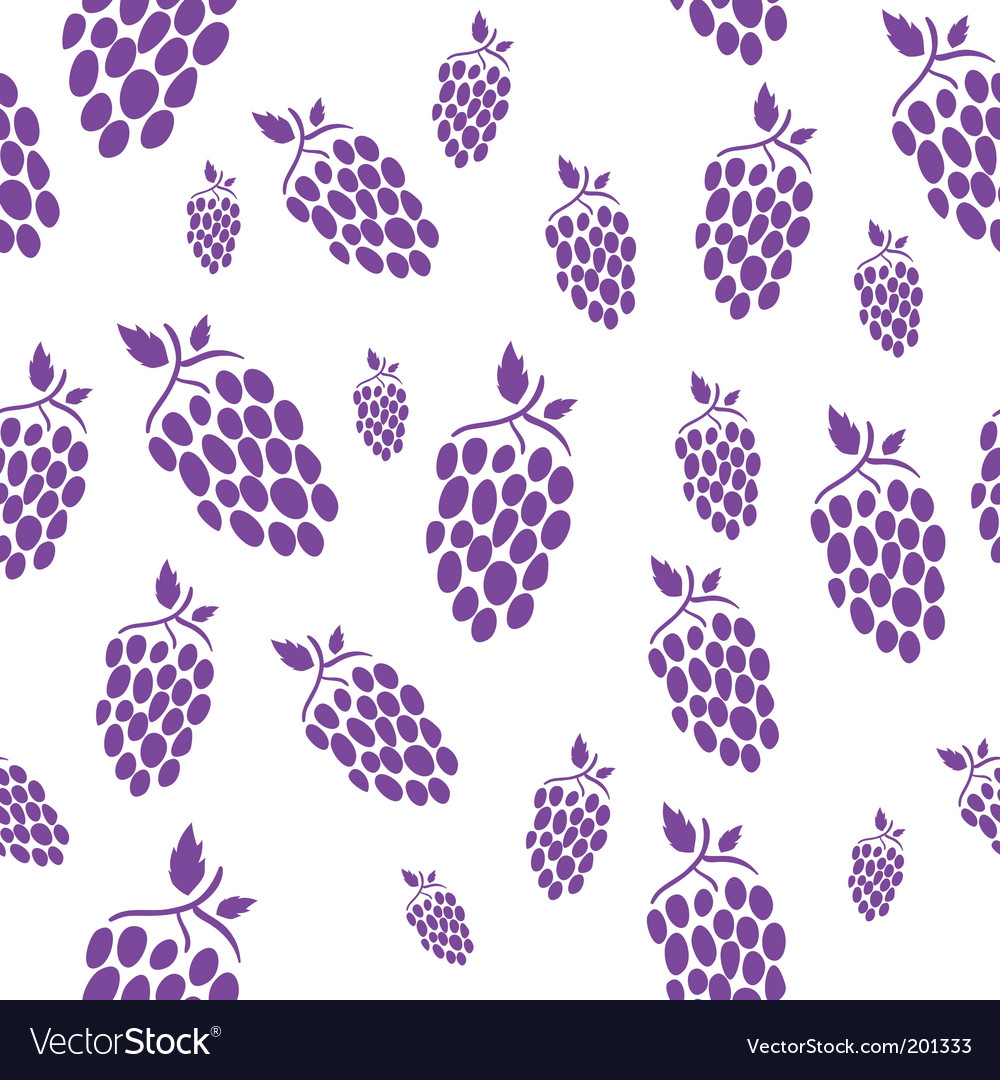Seamless grape vector | Price: 1 Credit (USD $1)
