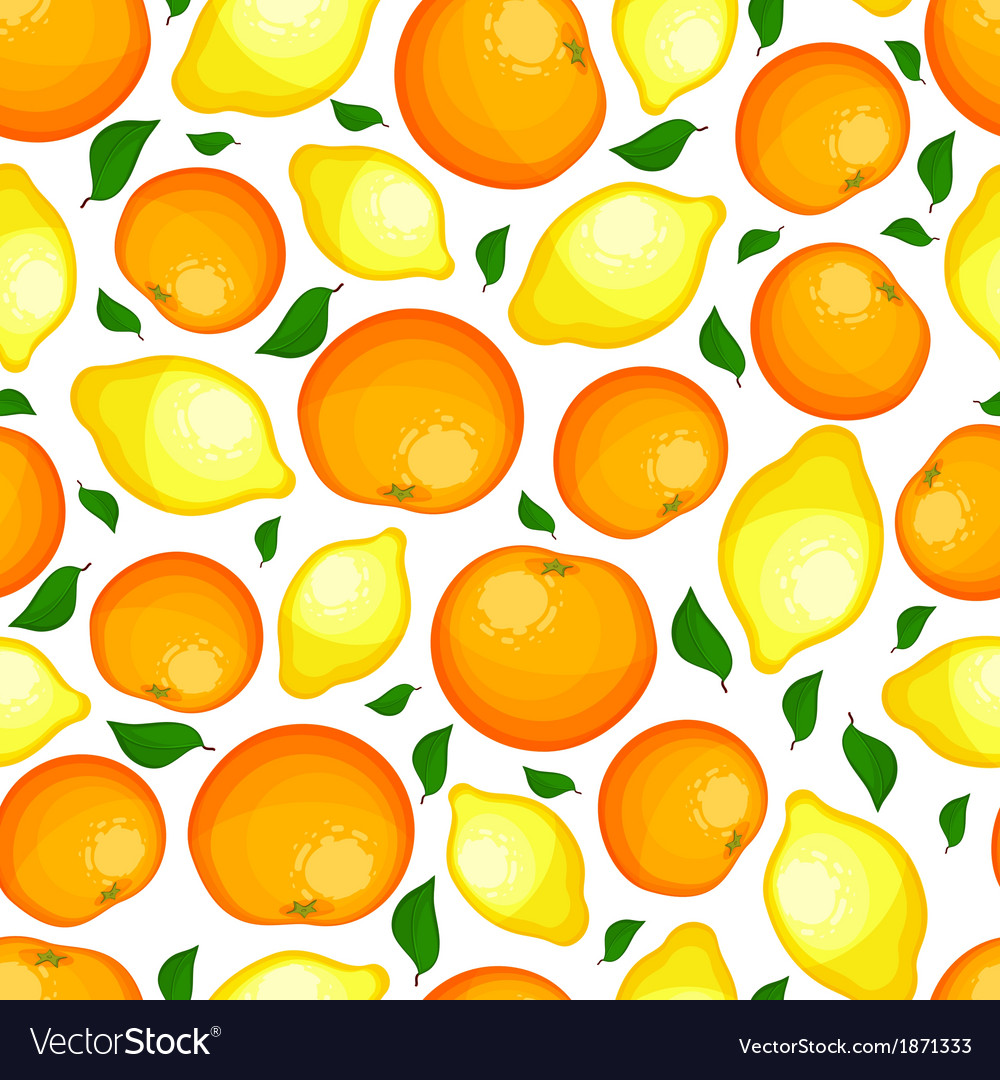 Seamless pattern from lemons and oranges vector | Price: 1 Credit (USD $1)