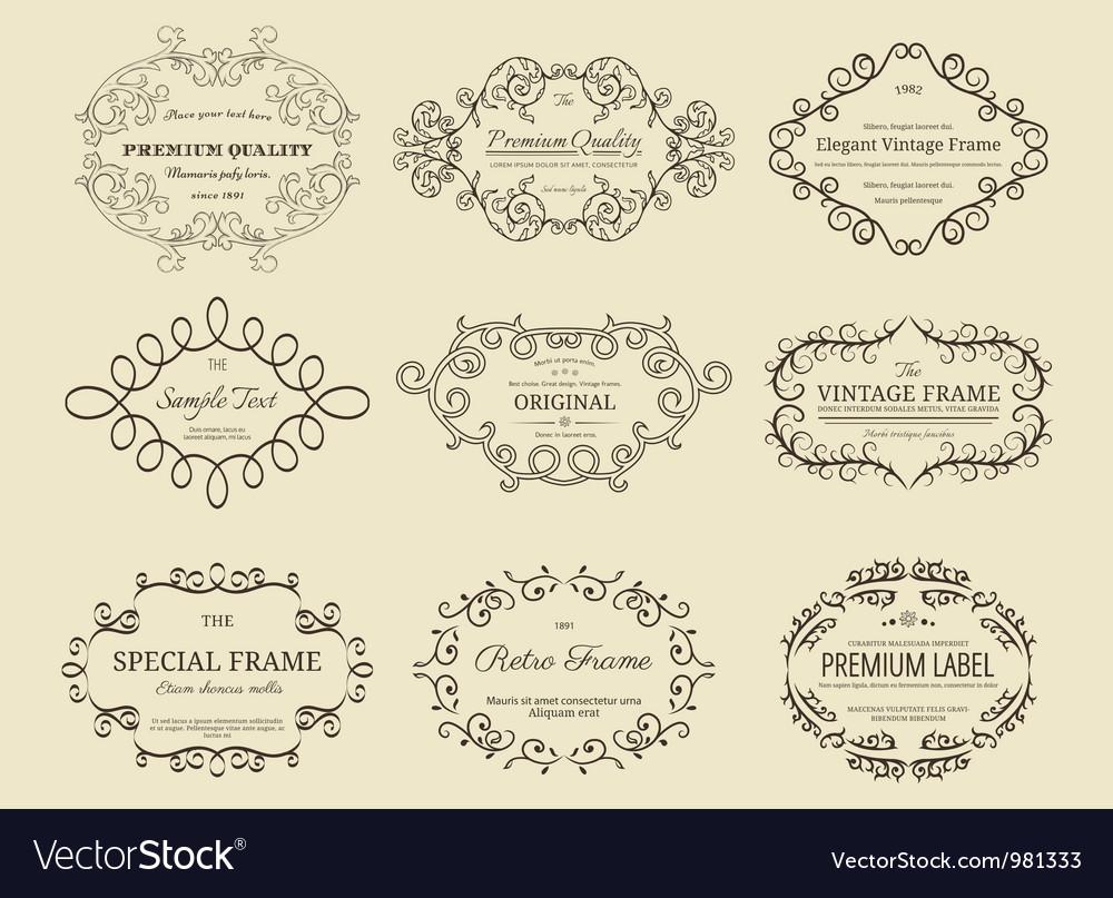 Set of vintage frames vector | Price: 1 Credit (USD $1)