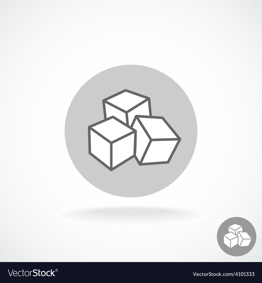 Sugar logo three cubes vector | Price: 1 Credit (USD $1)